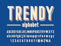 Vintage font royalty free illustration