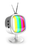 3d vintage television Royalty Free Stock Images