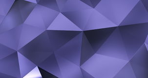 3d violet abstract geometric polygon surface motion background loop 4k stock video