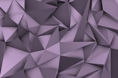 3d violet background with shadows and triangular shapes. For modern environment Royalty Free Stock Photo