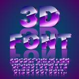 3d violet font Stock Photography