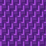 3D violet geometric abstract background for futuristic designs. Cool 3D purple geometric abstract background for futuristic, construction, science, geometry or Stock Images