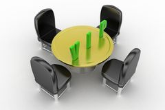 3d vip chair concept Royalty Free Stock Images