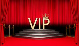 3d VIP geven symbool terug Royalty-vrije Illustratie