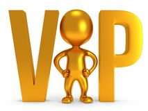 3d VIP man Stock Images