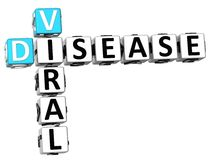 3D Viral Disease Crossword. On white background Royalty Free Stock Images