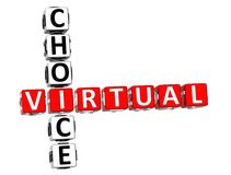 3D Virtual Choice Crossword Stock Images