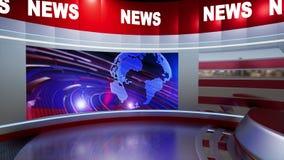3D Virtual News Studio Background