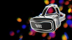 3D Virtual Reality Glasses Royalty Free Stock Photo