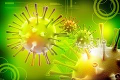 3d virus Vector Illustratie