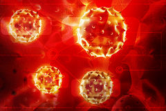3d virus on a attractive background Stock Images