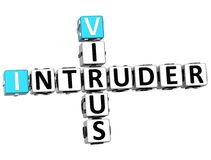 3D Virus Intruder Crossword Stock Photography