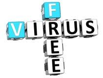 3D Virus Vrij Kruiswoordraadsel Stock Illustratie