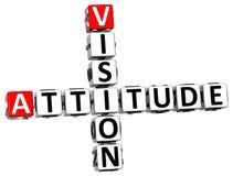 3D Vision Attitude Crossword Royalty Free Stock Photo