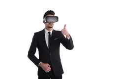 3d vision technology, virtual reality concept Royalty Free Stock Image