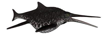 3D vissen van de Shonisaurusdinosaurus - geef terug Royalty-vrije Stock Foto