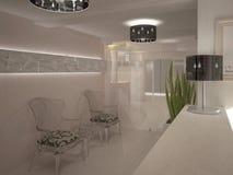 3D visualisatie van een hotel binnenlands ontwerp Royalty-vrije Stock Foto's