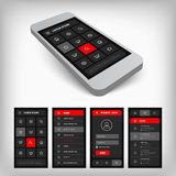 3d visualization of black and red ui Royalty Free Stock Photography