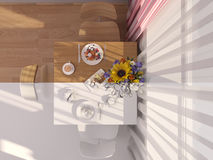 3D visualization collage of interior design kitchen Royalty Free Stock Photography