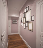 3D visualization of a entrance hall interior design Stock Photography