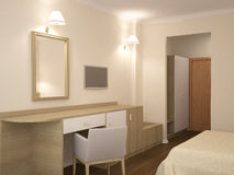 3D visualization of a hotel interior design Royalty Free Stock Image