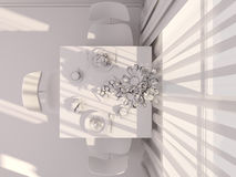 3D visualization of interior design kitchen Royalty Free Stock Photography