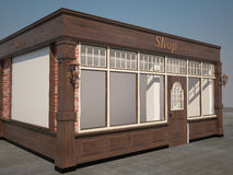 3D visualization of a shop interior design Stock Image