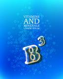 3d vitamin glass sign Stock Photos