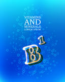 3d vitamin glass sign Royalty Free Stock Photography