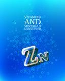 3d vitamin glass sign Royalty Free Stock Photos