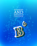 3d vitamin glass sign Royalty Free Stock Photo