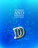 3d vitamin glass sign Stock Photo