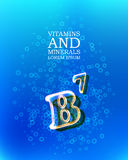 3d vitamin glass sign Royalty Free Stock Images