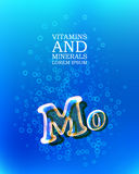 3d vitamin glass sign Stock Image