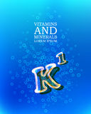 3d vitamin glass sign Stock Images