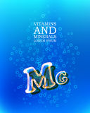 3d vitamin glass sign Royalty Free Stock Image