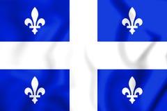 3D Vlag van de Provincie van Quebec royalty-vrije illustratie
