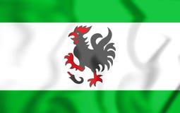 3D Vlag van Haan North Rhine-Westphalia, Duitsland royalty-vrije illustratie