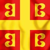 3D Vlag van het Byzantijnse Imperium stock illustratie