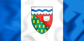 3D Vlag van Noordwestengebieden, Canada Royalty-vrije Stock Fotografie