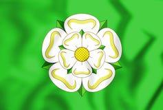 3D Vlag van North Yorkshire-Provincie, Engeland vector illustratie