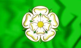 3D Vlag van North Yorkshire-Provincie, Engeland stock illustratie