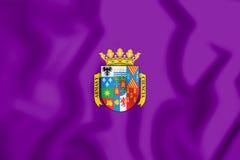 3D Vlag van Palencia Provincie, Spanje royalty-vrije illustratie