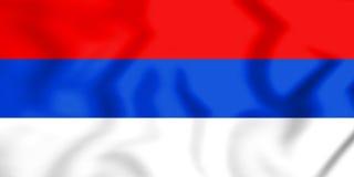 3D Vlag van Republika Srpska Stock Afbeelding