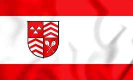 3D Vlag van Werther North Rhine-Westphalia, Duitsland vector illustratie