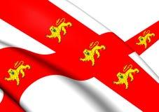 3D Vlag van York North Yorkshire, Engeland royalty-vrije illustratie