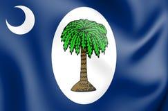 3D Vlag van Zuiden Carolina January 1861, de V.S. royalty-vrije illustratie