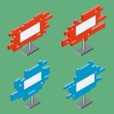 3d vlakke isometrische aanplakborden vector illustratie