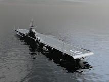 3D vliegdekschip - geef terug Royalty-vrije Stock Afbeeldingen