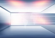 3D vloer met van achtergrond netoppervlakten conceptenreeks Stock Afbeelding